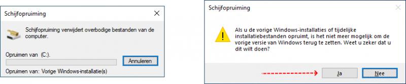 Windows-installaties of tijdelijke installatiebestanden opruimen