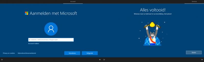 Windows staat nu helemaal tot uw beschikking