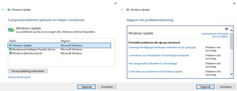 Windows Update Probleemoplosser