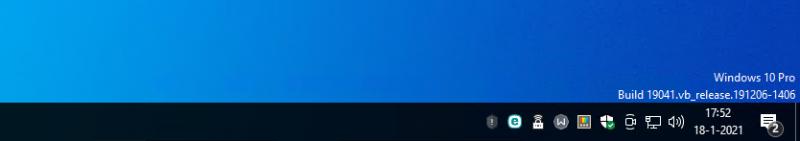 Windows versie en build op het bureaublad tonen