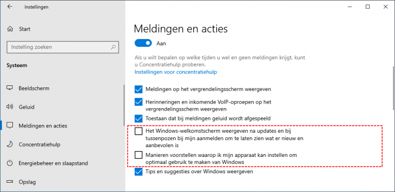 Windows-welkomstscherm en voorstellen uitschakelen in Windows 10