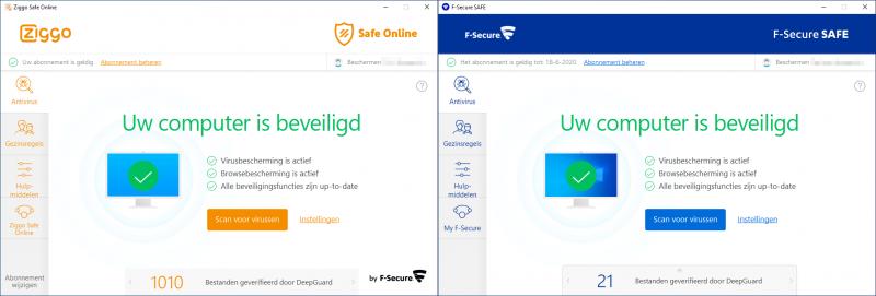 Ziggo Safe Online versus F-Secure Safe