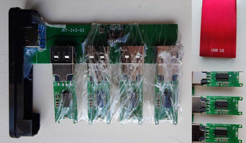 Zo ziet een fake SSD er vanbinnen uit